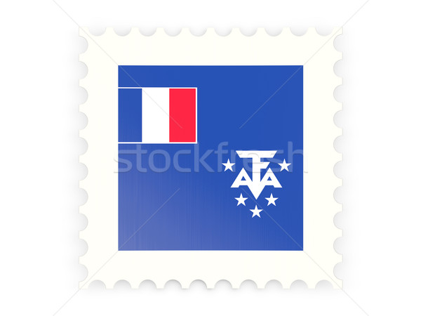 Postage stamp icon of french southern territories Stock photo © MikhailMishchenko