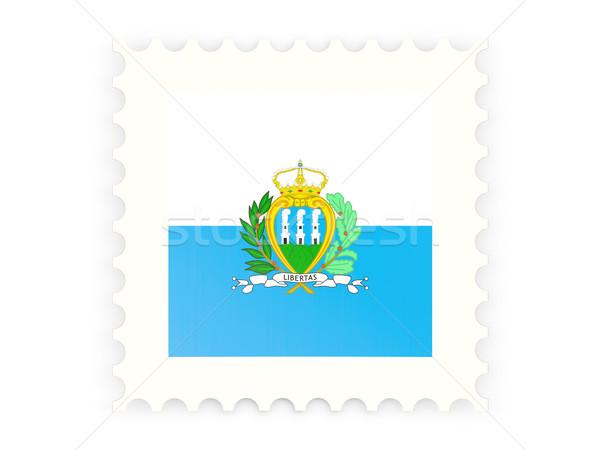 почтовая марка икона Сан-Марино изолированный белый знак Сток-фото © MikhailMishchenko
