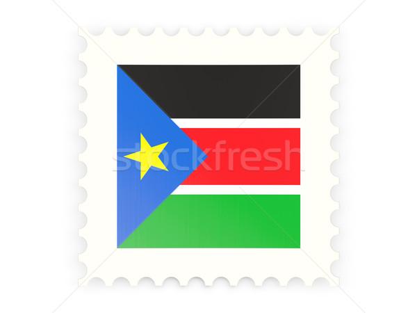Postabélyeg ikon dél Szudán izolált fehér Stock fotó © MikhailMishchenko