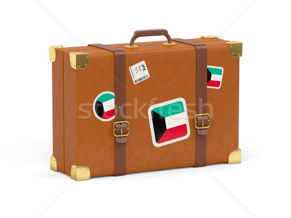 Suitcase with flag of kuwait Stock photo © MikhailMishchenko