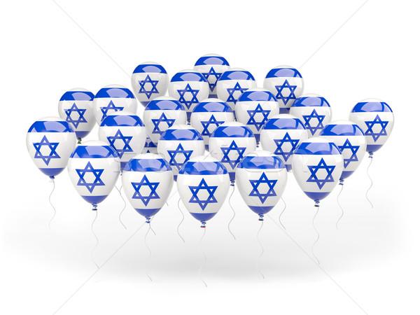 Balony banderą Izrael odizolowany biały podróży Zdjęcia stock © MikhailMishchenko