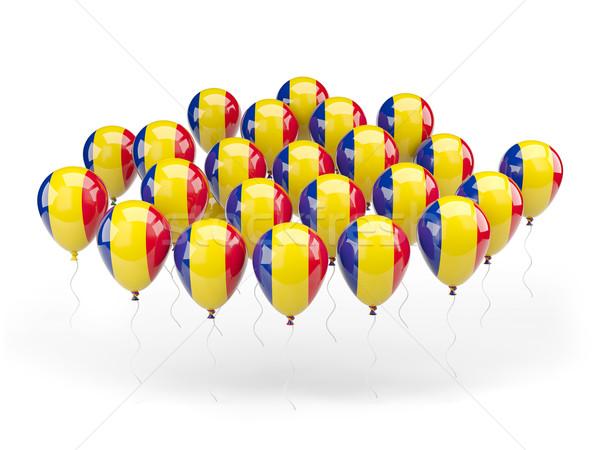 Ballons pavillon Roumanie isolé blanche pays Photo stock © MikhailMishchenko