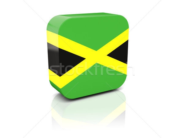 Square icon with flag of jamaica Stock photo © MikhailMishchenko