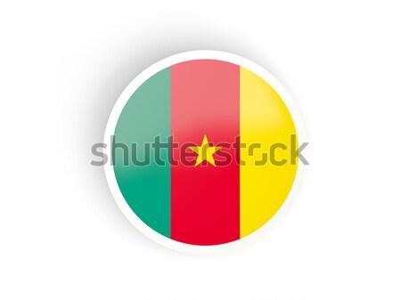 Knop vlag Kameroen metaal frame reizen Stockfoto © MikhailMishchenko