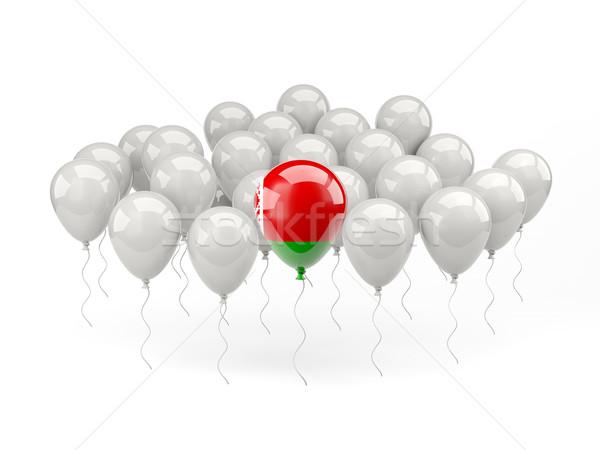 Lucht ballonnen vlag Wit-Rusland geïsoleerd witte Stockfoto © MikhailMishchenko