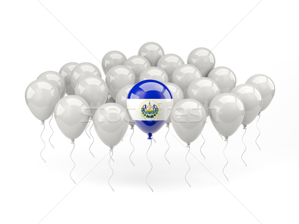 Air balloons with flag of el salvador Stock photo © MikhailMishchenko