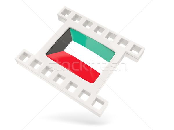 Foto d'archivio: Film · icona · bandiera · Kuwait · isolato · bianco