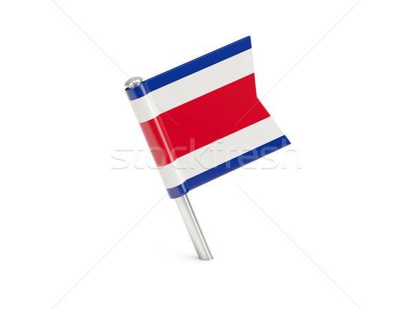 Zászló tő Costa Rica izolált fehér világ Stock fotó © MikhailMishchenko