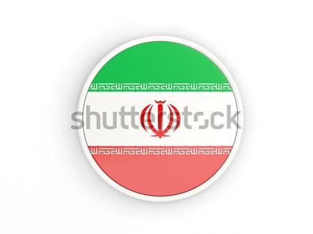 Matrica zászló Irán izolált fehér utazás Stock fotó © MikhailMishchenko