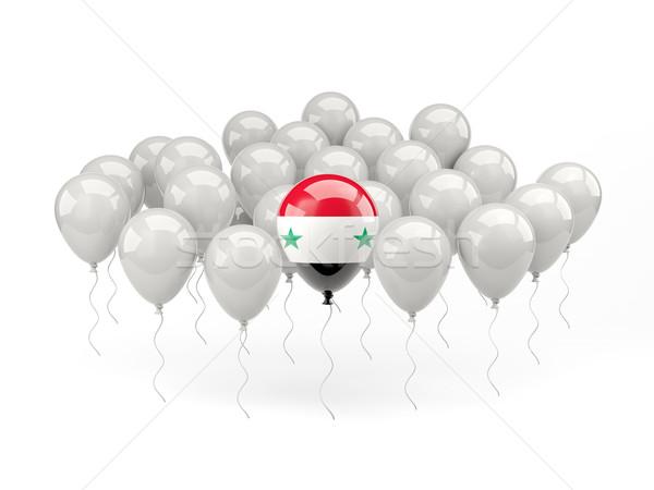 Lucht ballonnen vlag Syrië geïsoleerd witte Stockfoto © MikhailMishchenko