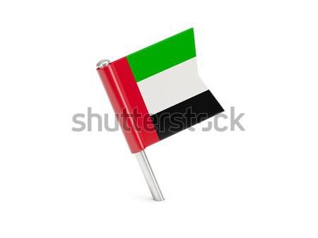 флаг Pin Объединенные Арабские Эмираты изолированный белый Сток-фото © MikhailMishchenko