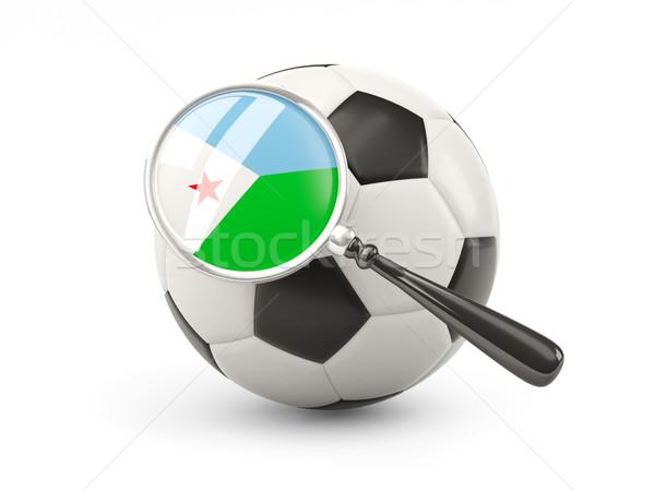 футбола флаг Джибути изолированный белый Сток-фото © MikhailMishchenko