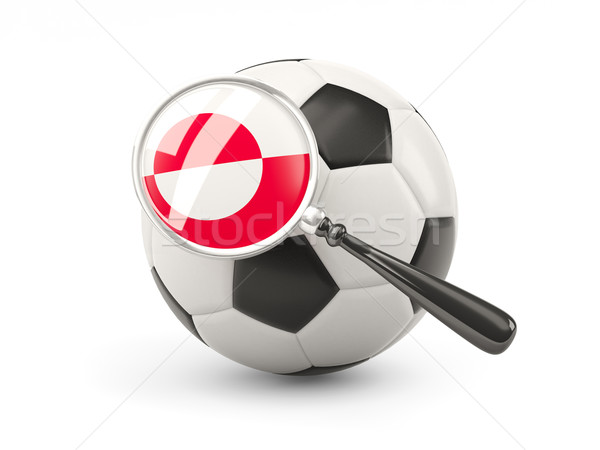 Football with magnified flag of greenland Stock photo © MikhailMishchenko
