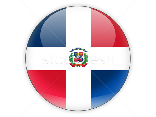 Round icon with flag of dominican republic Stock photo © MikhailMishchenko