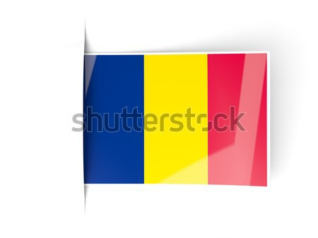 Square label with flag of chad Stock photo © MikhailMishchenko