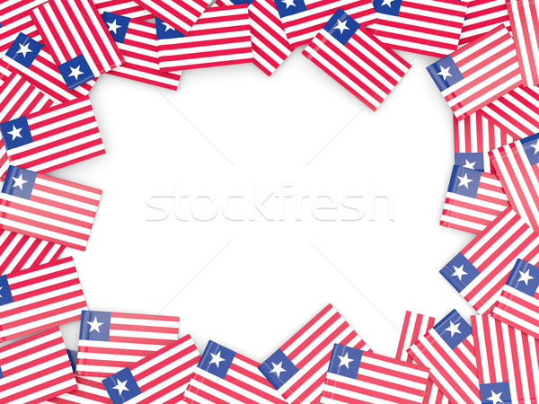 Frame with flag of liberia Stock photo © MikhailMishchenko