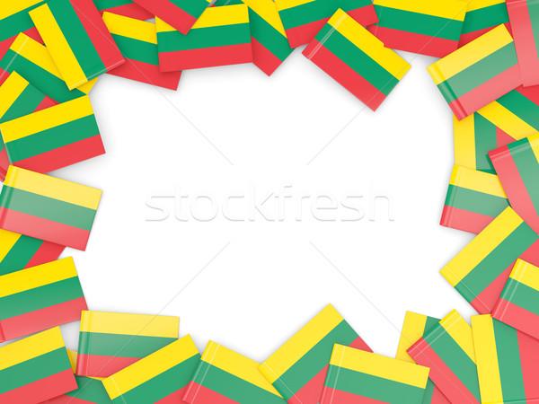 кадр флаг Литва изолированный белый Сток-фото © MikhailMishchenko