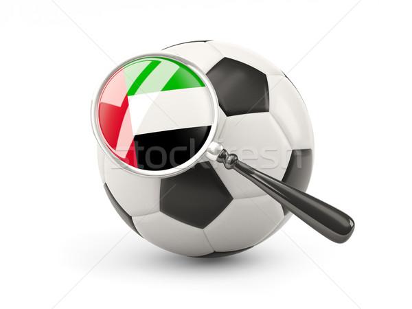 Futbol bayrak Birleşik Arap Emirlikleri yalıtılmış beyaz Stok fotoğraf © MikhailMishchenko
