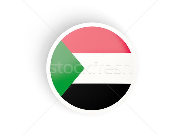 Matrica zászló Szudán izolált fehér utazás Stock fotó © MikhailMishchenko