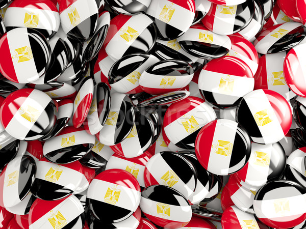Background with round pins with flag of egypt Stock photo © MikhailMishchenko