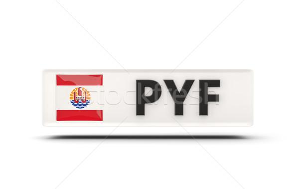 Piazza icona bandiera francese polinesia iso Foto d'archivio © MikhailMishchenko