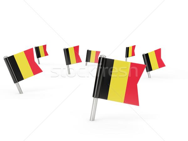 広場 フラグ ベルギー 孤立した 白 国 ストックフォト © MikhailMishchenko
