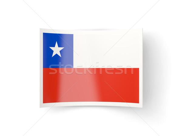 Bent icon with flag of chile Stock photo © MikhailMishchenko