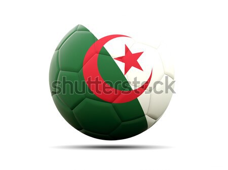 футбола флаг Алжир 3d иллюстрации Футбол спорт Сток-фото © MikhailMishchenko