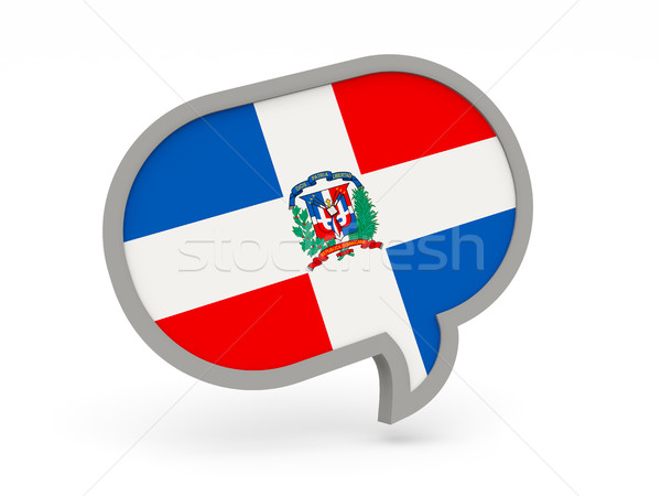 Chat icon with flag of dominican republic Stock photo © MikhailMishchenko
