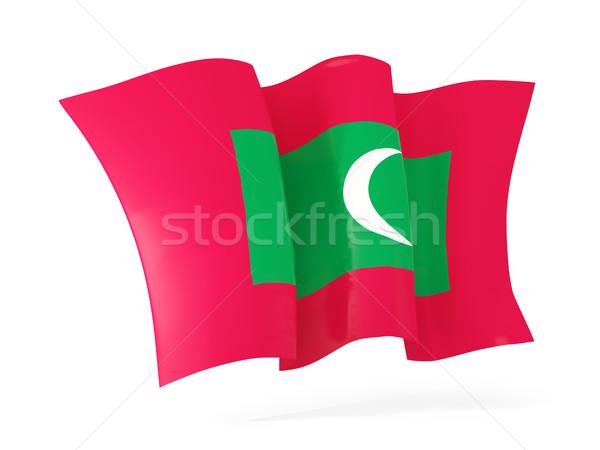 Bandiera Maldive illustrazione 3d isolato bianco Foto d'archivio © MikhailMishchenko