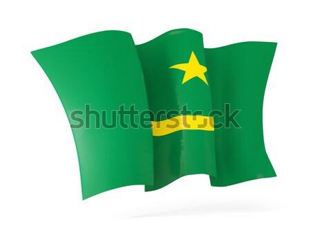 Waving flag of mauritania. 3D illustration Stock photo © MikhailMishchenko