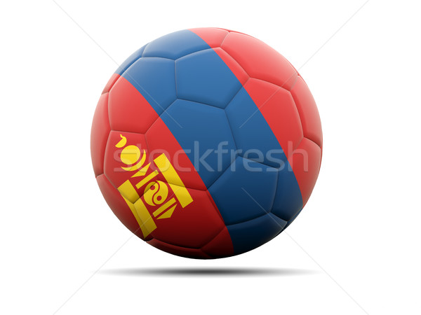 Voetbal vlag Mongolië 3d illustration voetbal sport Stockfoto © MikhailMishchenko