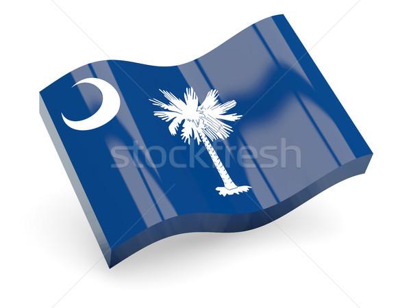 Flag of south carolina, US state wave icon Stock photo © MikhailMishchenko