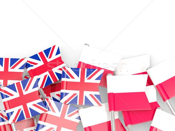 Pavillon uni isolé blanche 3d illustration Europe Photo stock © MikhailMishchenko