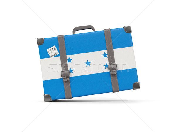 Bagaglio bandiera Honduras valigia isolato bianco Foto d'archivio © MikhailMishchenko