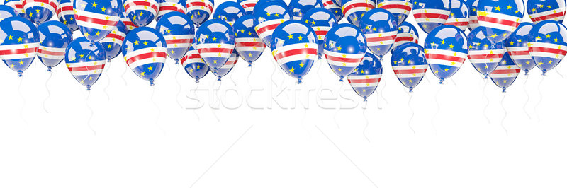 Balloons frame with flag of cape verde Stock photo © MikhailMishchenko