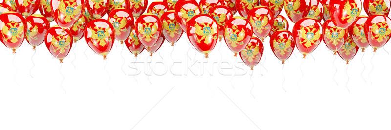 Balloons frame with flag of montenegro Stock photo © MikhailMishchenko