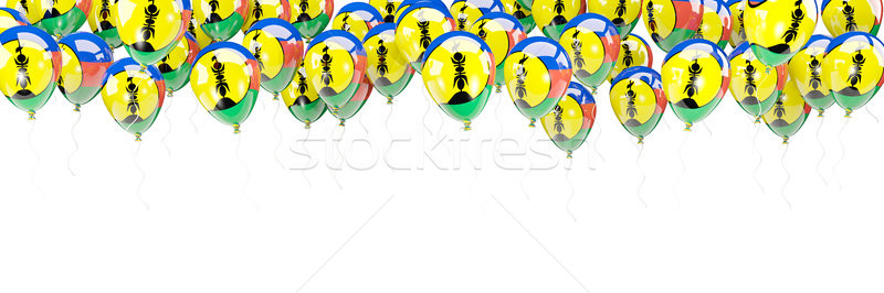 Balloons frame with flag of new caledonia Stock photo © MikhailMishchenko