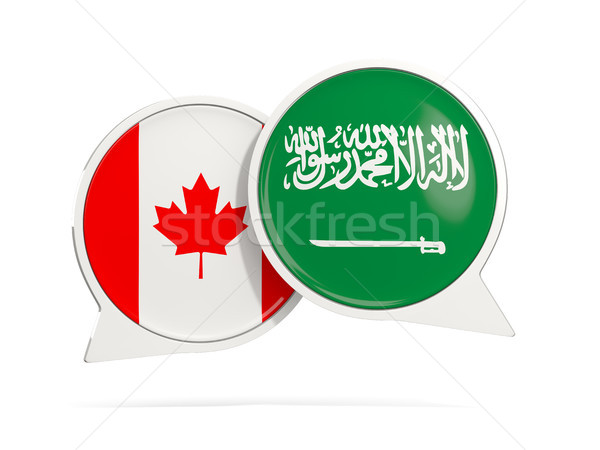Chat bubbles of Canada and Saudi Arabia isolated on white Stock photo © MikhailMishchenko