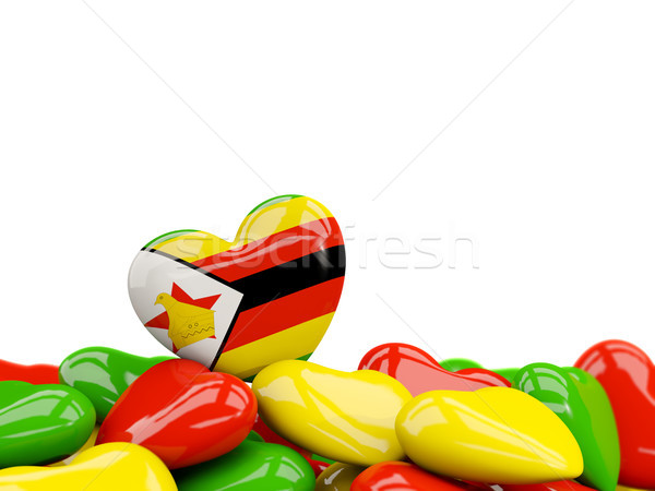Heart with flag of zimbabwe Stock photo © MikhailMishchenko