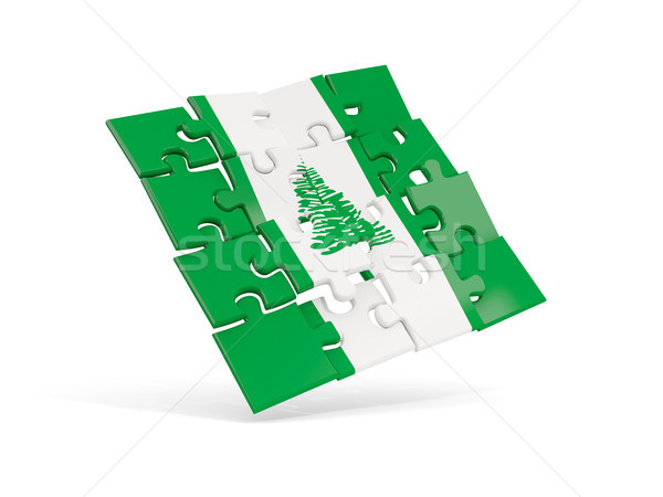 Puzzle flag of norfolk island isolated on white Stock photo © MikhailMishchenko