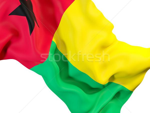 Waving flag of guinea bissau Stock photo © MikhailMishchenko