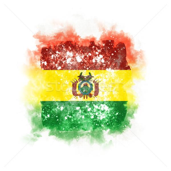 квадратный Гранж флаг Боливия 3d иллюстрации ретро Сток-фото © MikhailMishchenko