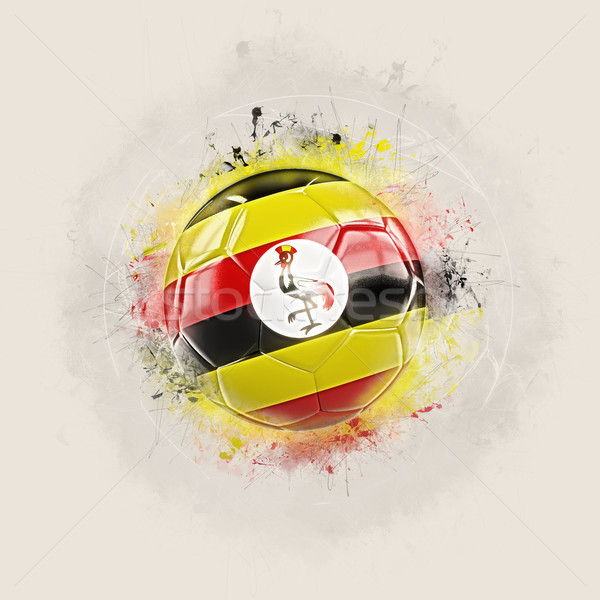 Grunge football pavillon Ouganda 3d illustration monde Photo stock © MikhailMishchenko