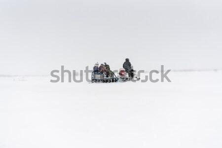 Persone guida blizzard neve inverno viaggio Foto d'archivio © MikhailMishchenko