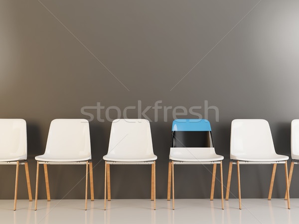 Chair with flag of estonia Stock photo © MikhailMishchenko