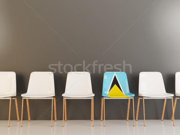 Chair with flag of saint lucia Stock photo © MikhailMishchenko