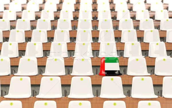 Stadyum koltuk bayrak Birleşik Arap Emirlikleri beyaz Stok fotoğraf © MikhailMishchenko