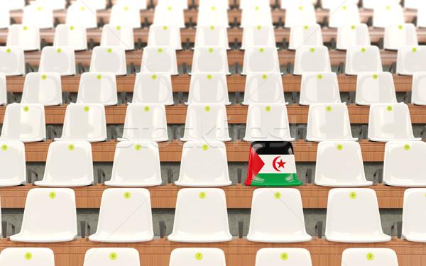 Stadion zitting vlag westerse sahara rij Stockfoto © MikhailMishchenko