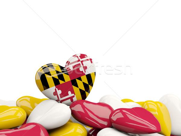 Hart Maryland vlag Verenigde Staten lokaal Stockfoto © MikhailMishchenko